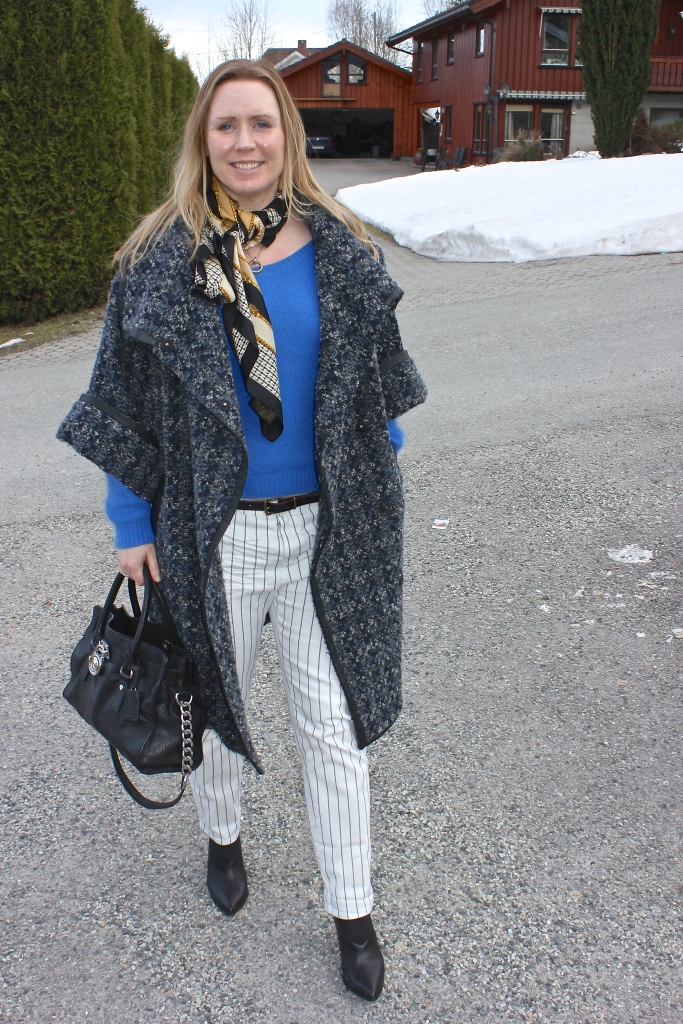 Coat - Matthew Williams for Lindex Pants - Mango Boots- Bianco Knit - Designers Remix Bag - Michael Kors Scarf - Vintage Burberry